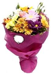 1 demet karışık görsel buket  Bolu anneler günü çiçek yolla
