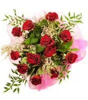 12 adet kırmızı gül buketi  Bolu 14 şubat sevgililer günü çiçek