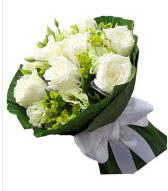 9 adet beyaz gül buketi  Bolu çiçek siparişi sitesi