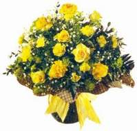 Bolu çiçek , çiçekçi , çiçekçilik  Sari gül karanfil ve kir çiçekleri