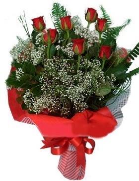 7 kırmızı gül buketi  Bolu çiçek servisi , çiçekçi adresleri