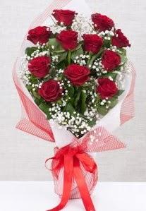 11 kırmızı gülden buket çiçeği  Bolu 14 şubat sevgililer günü çiçek