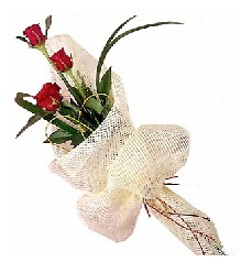 3 adet kırmızı gül buketi  Bolu güvenli kaliteli hızlı çiçek