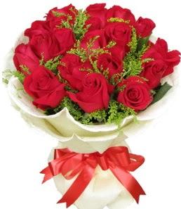 19 adet kırmızı gülden buket tanzimi  Bolu çiçek servisi , çiçekçi adresleri