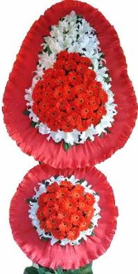 Bolu online çiçek gönderme sipariş  Çift katlı kaliteli düğün açılış sepeti