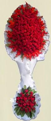 Çift katlı kıpkırmızı düğün açılış çiçeği  Bolu anneler günü çiçek yolla