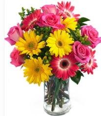Vazoda Karışık mevsim çiçeği  Bolu çiçekçi mağazası