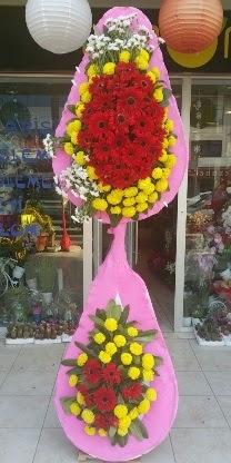 Çift katlı düğün nikah açılış çiçek modeli  Bolu çiçekçiler
