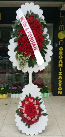 Çift katlı düğün nikah çiçeği modeli  Bolu çiçek siparişi sitesi