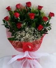 11 adet kırmızı gülden görsel çiçek  Bolu çiçek satışı