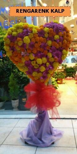 Ankara mevsim çiçeklerinden kalp perförje  Bolu çiçekçi telefonları