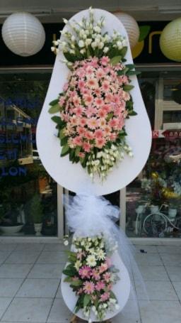 Çift katlı özel şahane sepet çiçeği  Bolu çiçekçi telefonları