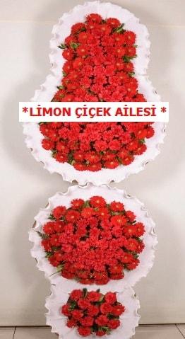 3 katlı kırmızı düğün açılış çiçeği  Bolu çiçek gönderme