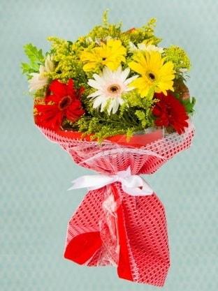 Karışık Gelbera Buketi  Bolu çiçek siparişi sitesi