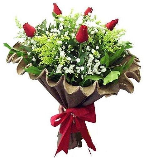 5 adet gülden buket  Bolu çiçek gönderme sitemiz güvenlidir