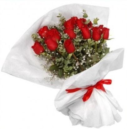 9 adet kırmızı gül buketi  Bolu çiçekçi mağazası