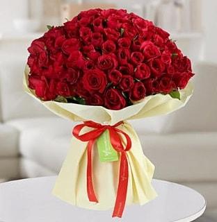 101 adet kırmızı gül buketi koca demet  Bolu internetten çiçek siparişi