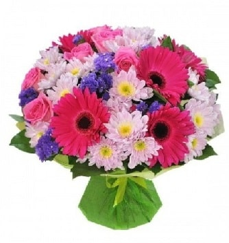 Karışık mevsim buketi mevsimsel buket  Bolu çiçek satışı