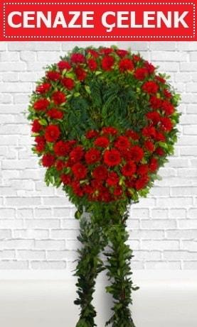 Kırmızı Çelenk Cenaze çiçeği  Bolu İnternetten çiçek siparişi