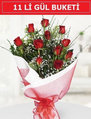 11 adet kırmızı gül buketi Aşk budur  Bolu çiçek gönderme sitemiz güvenlidir