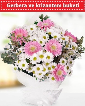 Papatya ve Gerbera Buketi  Bolu çiçek , çiçekçi , çiçekçilik