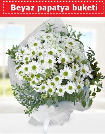 Beyaz Papatya Buketi  Bolu 14 şubat sevgililer günü çiçek